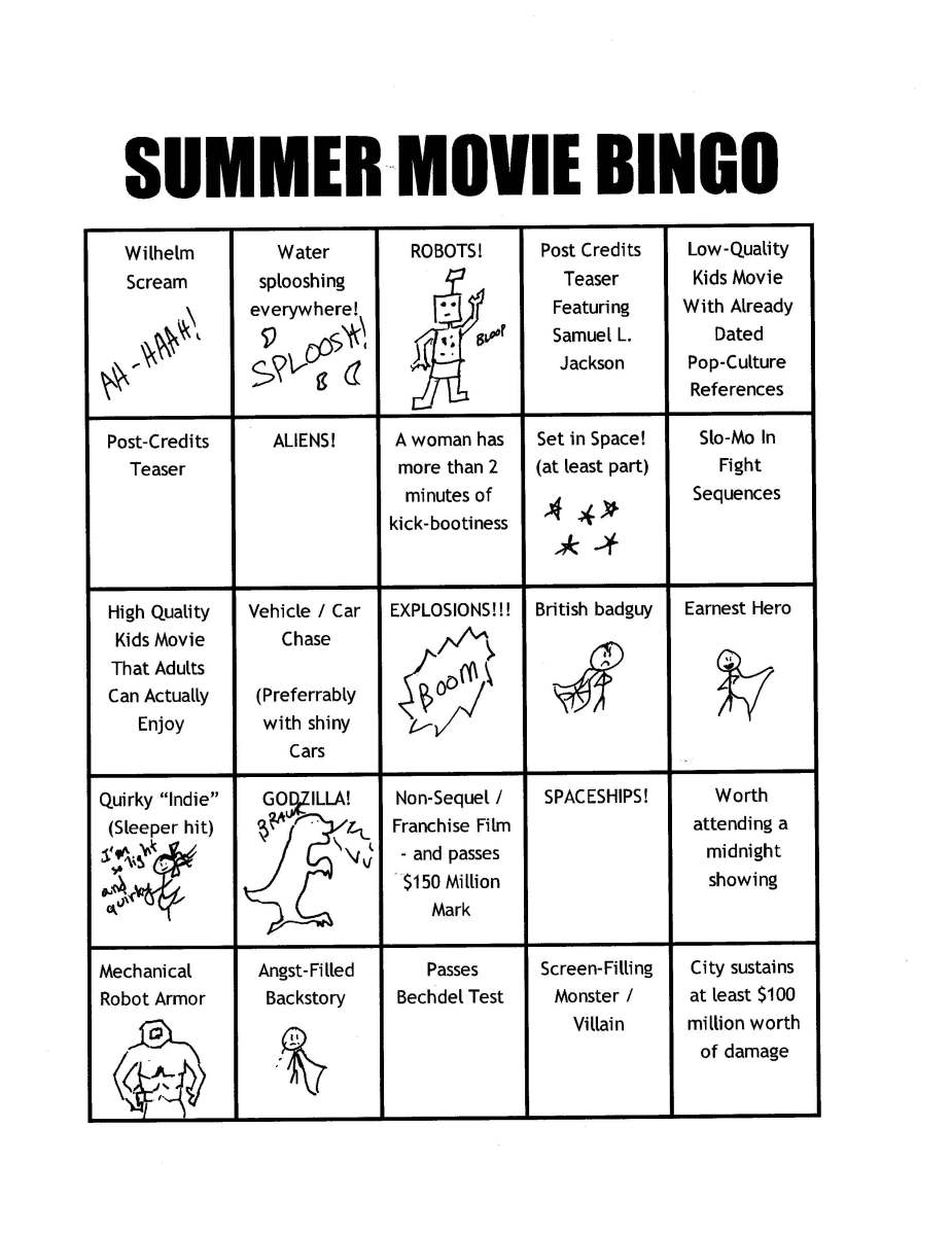 Introducing Summer Movie Bingo 2013