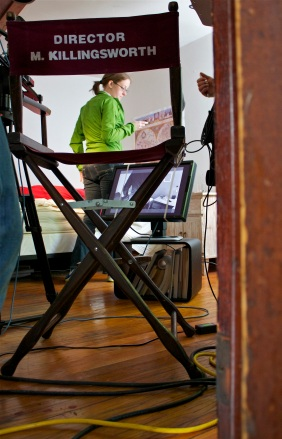 Director Framed by Chair
