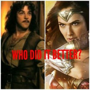 If you saw Wonder Woman then you know what I'm referring too lol - - Wonder Woman: I AM DIANA OF THEMYSCIRA, DAUGHTER OF HIPPOLYTA, IN THE NAME OF ALL THAT IS GOOD, YOUR WRATH UPON THIS WORLD IS OVER. Inigo Montoya: My name is Inigo Montoya. You killed my father. Prepare to die. #Joker #batman #dc #marvel #meme #memes #quote #quotes #nerds #geeks #Zeks #supervillans #thor #ironman #aquaman #superman #starwars #Avengers #JusticeLeauge #funny #spiderman #dankmemes #adamwest #harleyquinn #wonderwoman #stanlee #captainamerica #blackpanther #deadpool